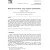 Blind deconvolution using temporal predictability