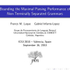 Bounding the Maximal Parsing Performance of Non-Terminally Separated Grammars