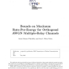 Bounds on Maximum Rate-Per-Energy for Orthogonal AWGN Multiple-Relay Channels