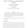 Bounds on the performance of belief propagation decoding