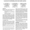 Bringing security home: a process for developing secure and usable systems