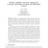 Bubbles, gullibility, and other challenges for economics, psychology, sociology, and information sciences