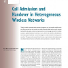 Call Admission and Handover in Heterogeneous Wireless Networks