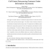 Call Center Outsourcing Contracts Under Information Asymmetry