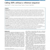 Calling SNPs without a reference sequence