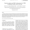 Capacity analysis and MAC enhancement for UWB broadband wireless access networks