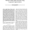 Cell Site Power Characterization for Multi-rate Wireless CDMA Data Networks Using Lognormal Approximation