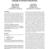 Challenges in the compilation of a domain specific language for dynamic programming
