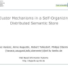 Cluster Mechanisms in a Self-organizing Distributed Semantic Store