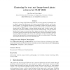 Clustering for Text and Image-Based Photo Retrieval at CLEF 2009