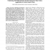 Clustering of Bi-Dimensional and Heterogeneous Time Series: Application to Social Sciences Data