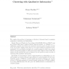 Clustering with Qualitative Information