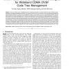 Code Placement and Replacement Strategies for Wideband CDMA OVSF Code Tree Management