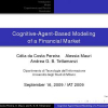 Cognitive-Agent-Based Modeling of a Financial Market