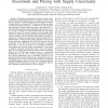Cognitive Mobile Virtual Network Operator: Investment and Pricing with Supply Uncertainty