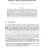 Coherence in the Learning System k-med