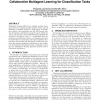 Collaborative multiagent learning for classification tasks