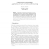 Collaborative Programming: Applications of Logic and Automated Reasoning