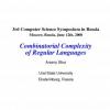 Combinatorial Complexity of Regular Languages