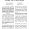 Combinatorial Optimization of Sensing for Rule-Based Planar Distributed Assembly