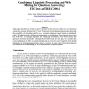 Combining Linguistic Processing and Web Mining for Question Answering: ITC-irst at TREC 2004