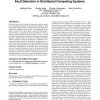 Combining supervised and unsupervised monitoring for fault detection in distributed computing systems