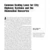 Common scaling laws for city highway systems and the mammalian neocortex