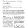 Comparing environments for developing software agents