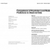 Comparisons of keystroke-level model predictions to observed data