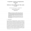 Competitive analysis of organization networks or multicast acknowledgement: how much to wait?