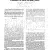 Complementarity formulation for multi-fingered hand manipulation with rolling and sliding contacts