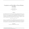 Complexity and Probability of Some Boolean Formulas
