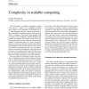 Complexity in scalable computing
