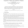 Complexity of Agents and Complexity of Markets