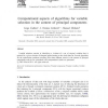 Computational aspects of algorithms for variable selection in the context of principal components