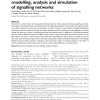 Computational methodologies for modelling, analysis and simulation of signalling networks