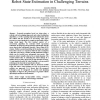 Computer Vision Methods for Improved Mobile Robot State Estimation in Challenging Terrains