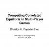 Computing correlated equilibria in multi-player games