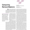 Computing Rational Bisectors