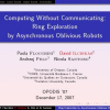 Computing Without Communicating: Ring Exploration by Asynchronous Oblivious Robots