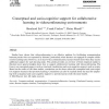 Conceptual and socio-cognitive support for collaborative learning in videoconferencing environments