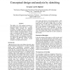 Conceptual design and analysis by sketching