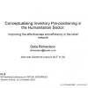 Conceptualising Inventory Prepositioning in the Humanitarian Sector