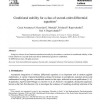 Conditional stability for a class of second-order differential equations
