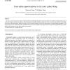 Cone spline approximation via fat conic spline fitting
