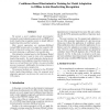 Confidence-Based Discriminative Training for Model Adaptation in Offline Arabic Handwriting Recognition