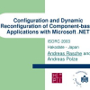 Configuration and Dynamic Reconfiguration of Component-Based Applications with Microsoft .NET
