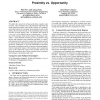 Connectivity of cognitive radio networks: proximity vs. opportunity