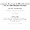 Consistency Checking of All Different Constraints over Bit-Vectors within a SAT Solver