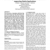 Consistency mechanisms for a distributed lookup service supporting mobile applications